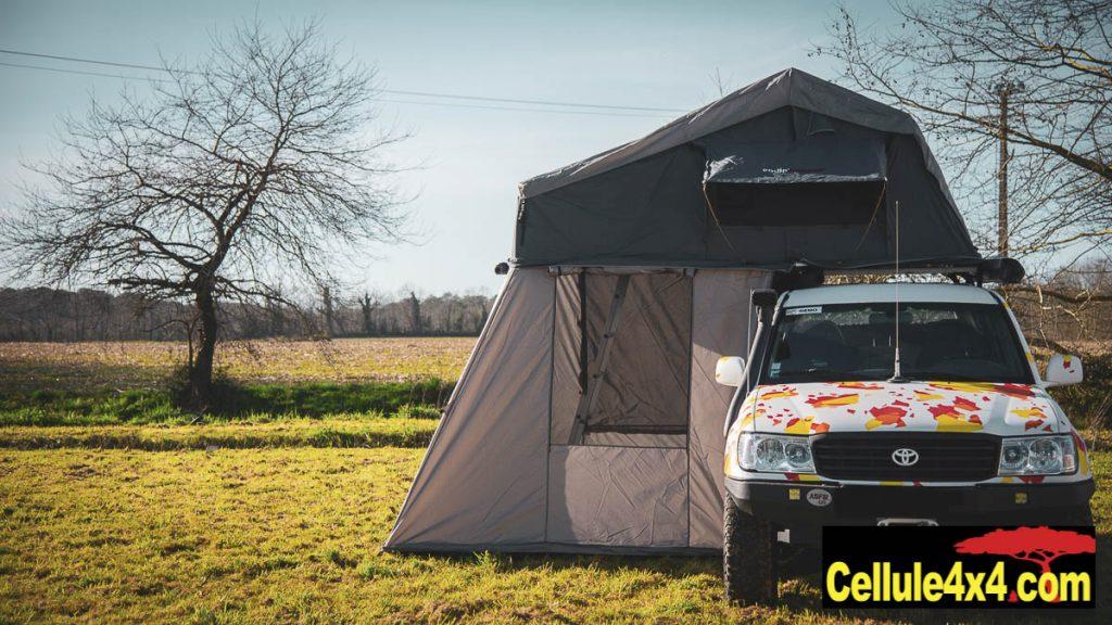 Tente de toit souple Euro 4x4 Parts avec son annexe
