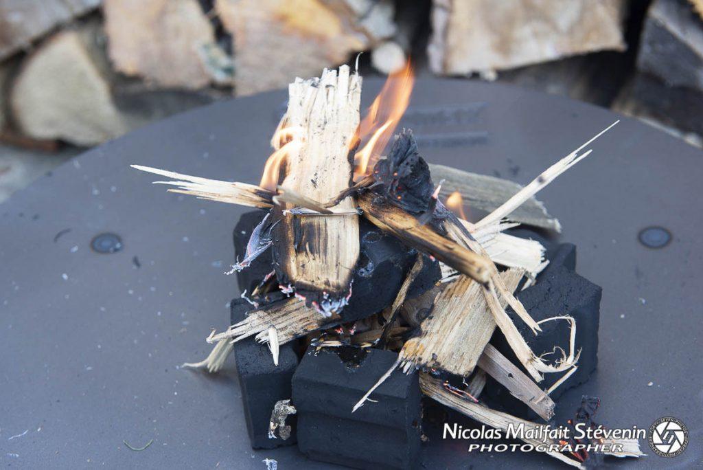 Allumage des briquettes