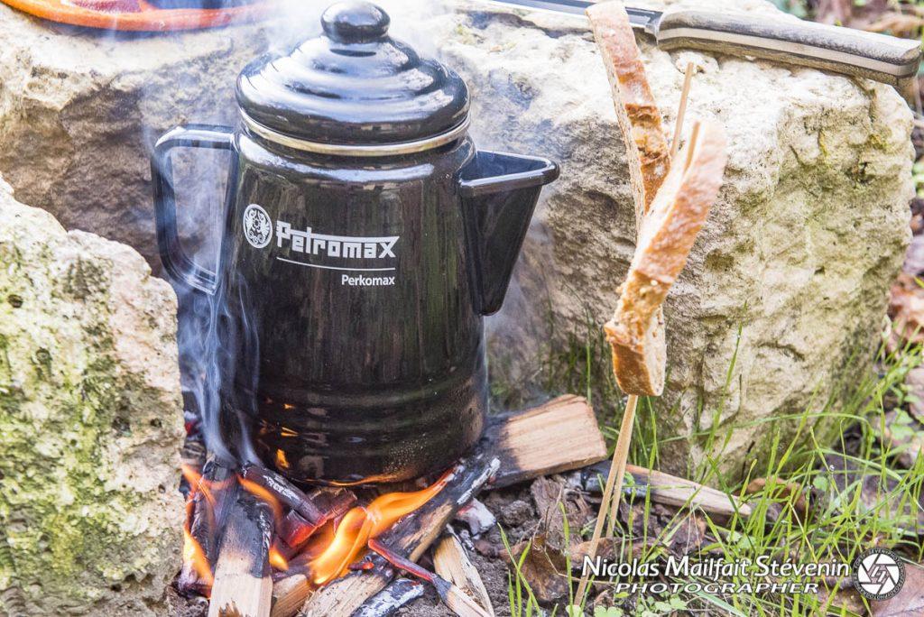 Essai percolateur Perkomax de Petromax, faire du café au bivouac