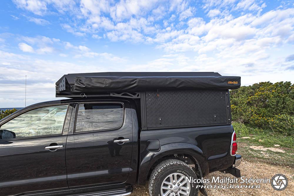 canopy camper Alu Cab un hard top avec un grand volume pour faire son aménagement à l'intérieur