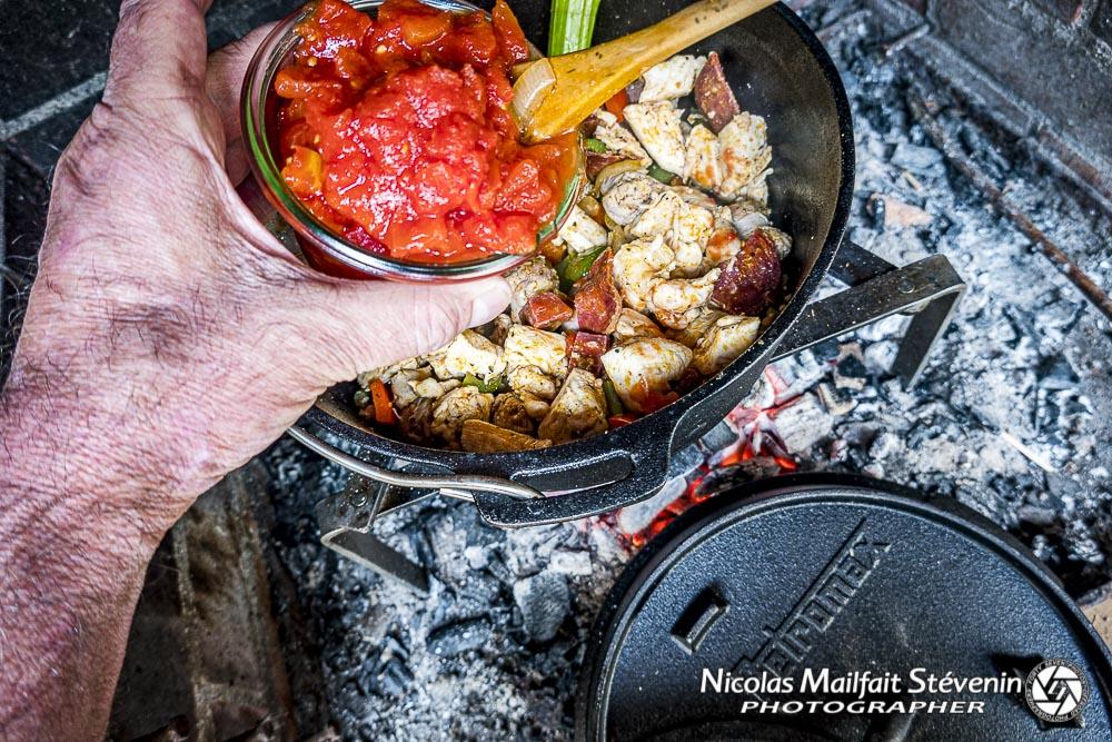7 mettre le concassé de tomate