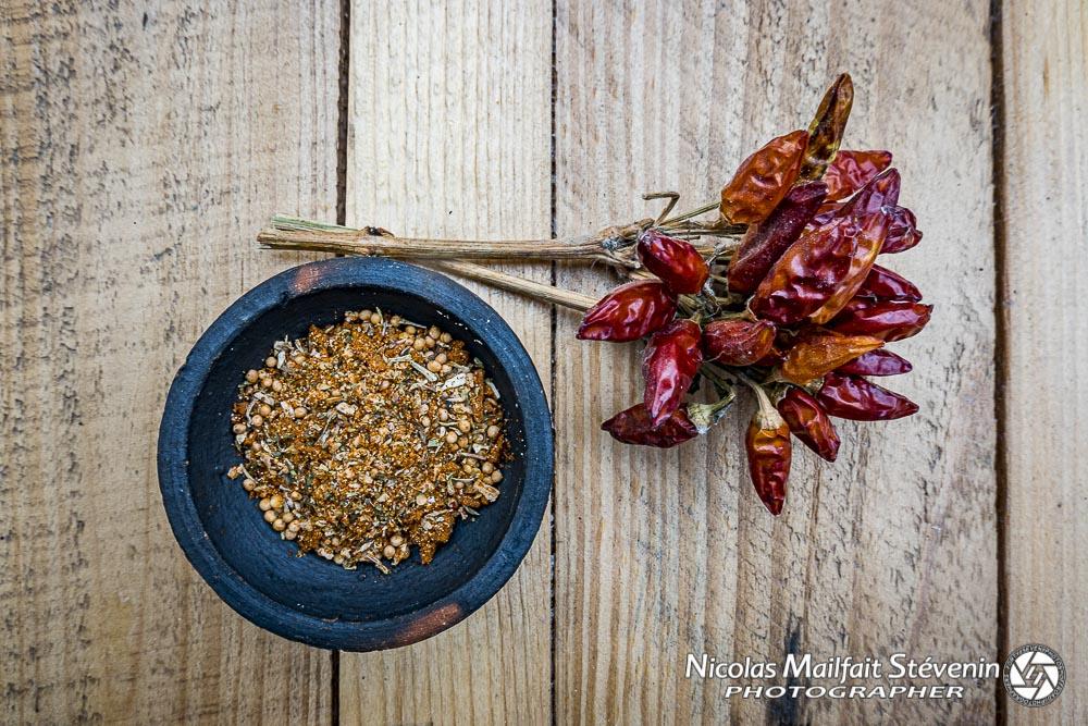 épices Cajun et piment de Venise