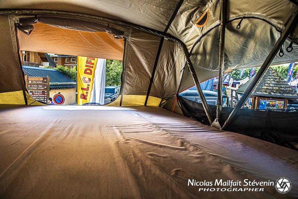 la tente de toit Alaska DjebelXtreme est disponible en 140 et 190 de large