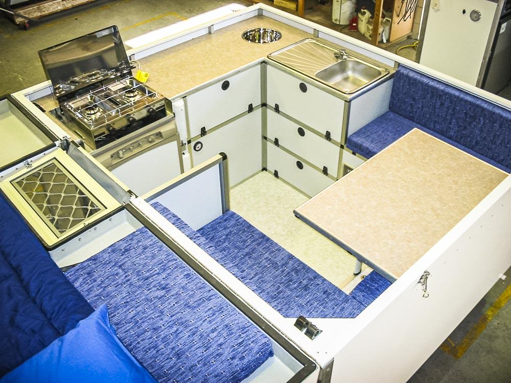 vue d'un aménagement de cellule Trayon en atelier